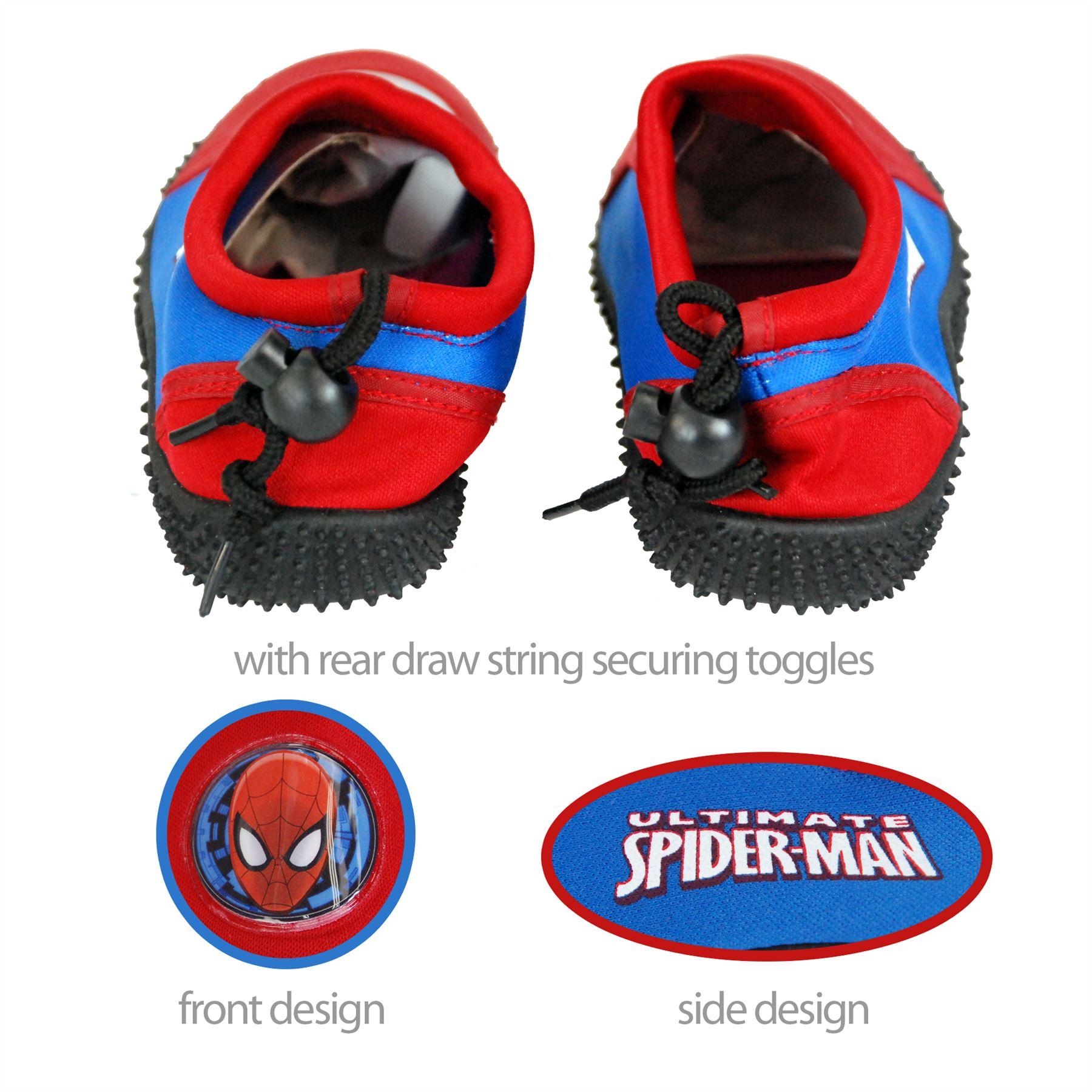 9e93a9cac Beach Pool Marvel Spider-Man Swim Shoes For Kids 9