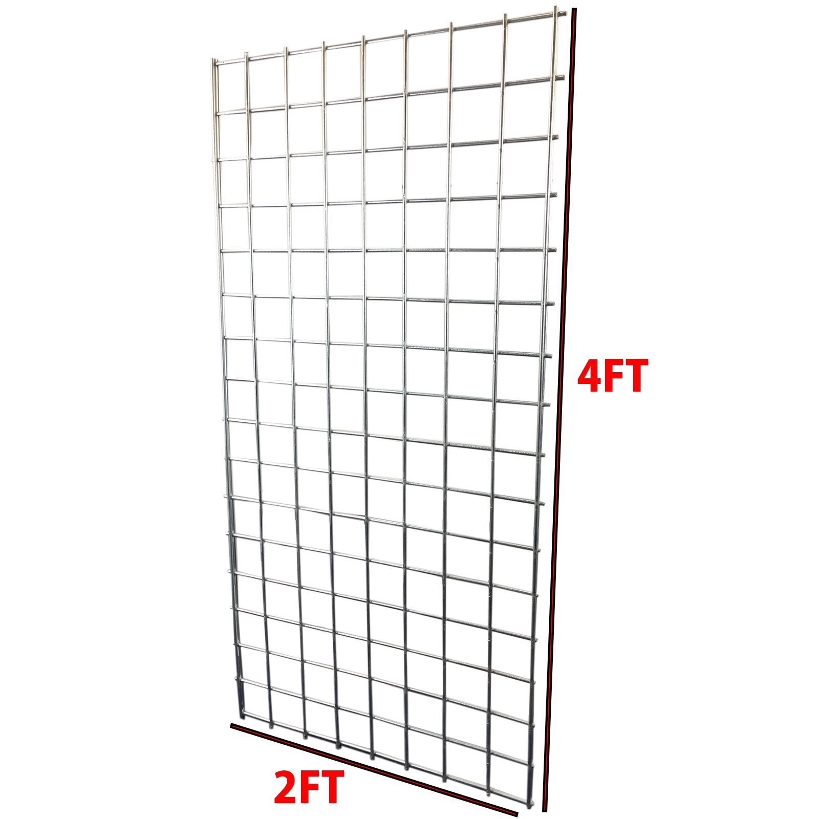4ft x 2ft heavy duty grid wall  gridwall mesh steel display panel shop retail