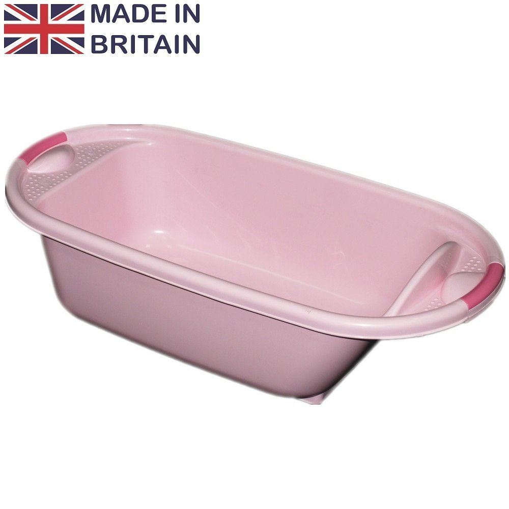 crazygadget pink plastic large baby kids deluxe wash bath tub. Black Bedroom Furniture Sets. Home Design Ideas