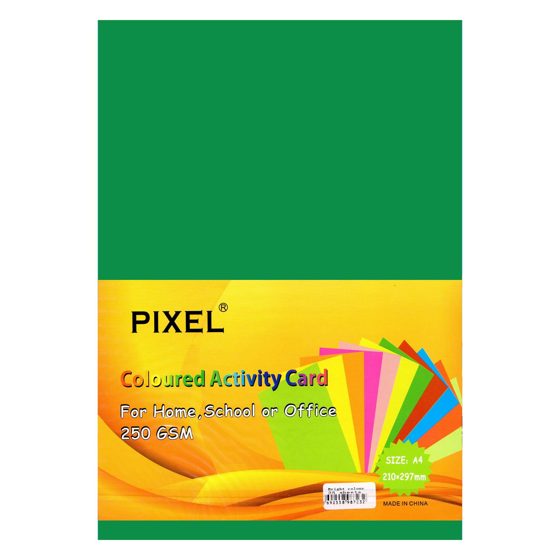 A4 Card for Home, School, Arts & Crafts (Bright Colours - 250GSM - 25 Sheets)