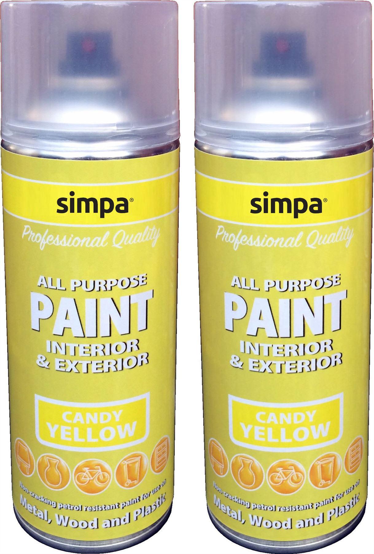 Candy Yellow Spray Paint Part - 16: Candy-Gloss-Simpa-Professional-DIY-Car-Van-Anti-