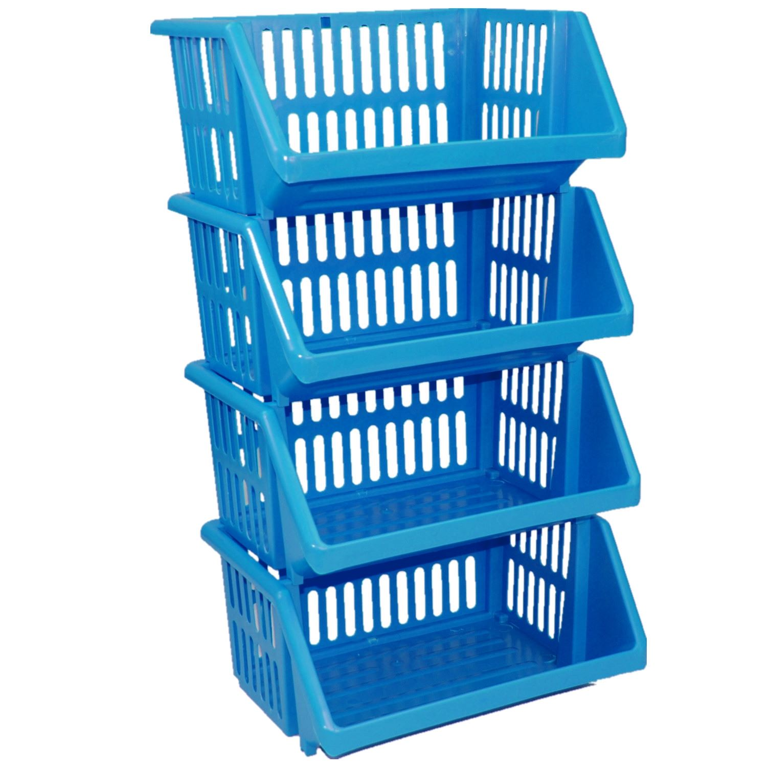 Stackable Kitchen Plastic Colour Storage Rack Stand Baskets - Made ...