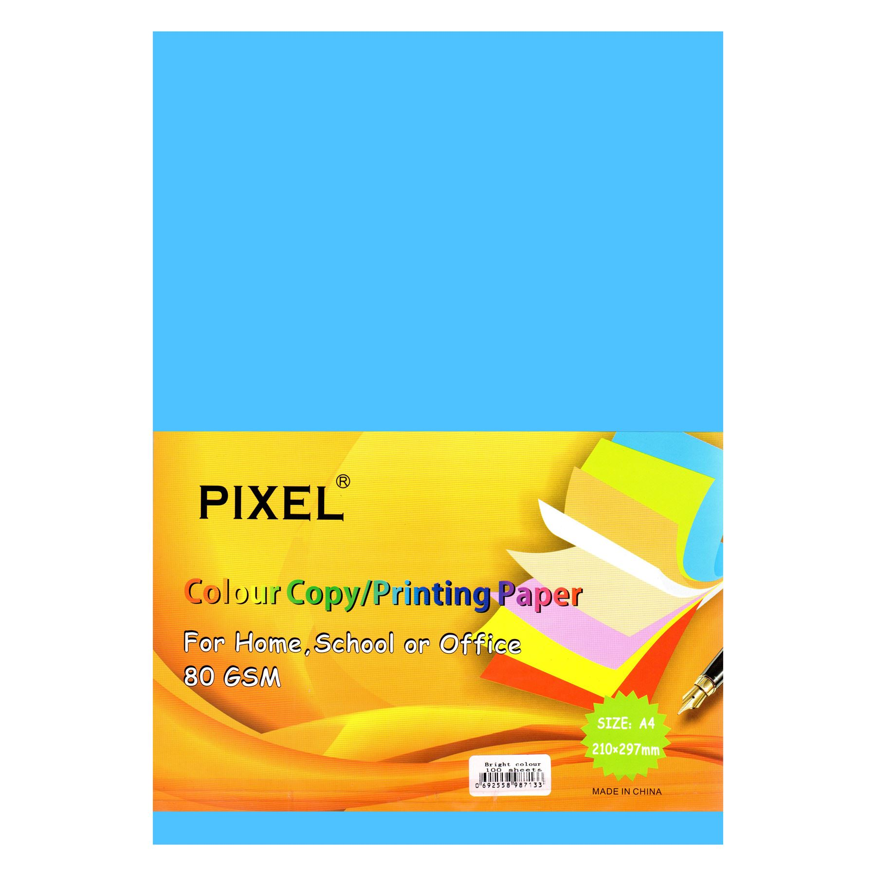 A4 Bright Colour Paper for Home, School, Arts & Crafts (80GSM - 100 Sheets)