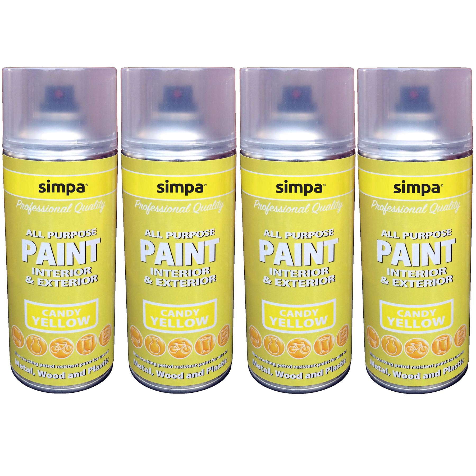 Ordinary Candy Yellow Spray Paint Part - 10: Candy-Gloss-Simpa-Professional-DIY-Car-Van-Anti-