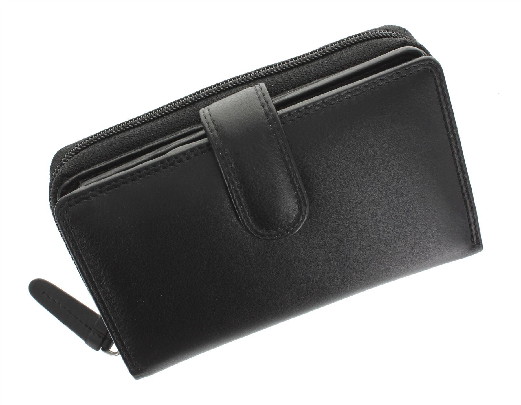 Visconti-Heritage-Collection-MADAME-Leather-Purse-Tab-Closure-RFID-blocking-HT33 miniatura 7