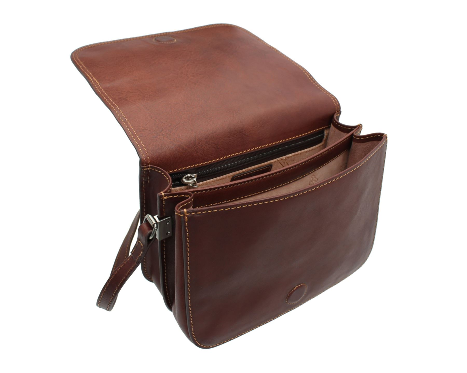 50a7120b93 Tony Perotti Full Grain Leather Messenger/shoulder Bag 1818 1 Brown ...