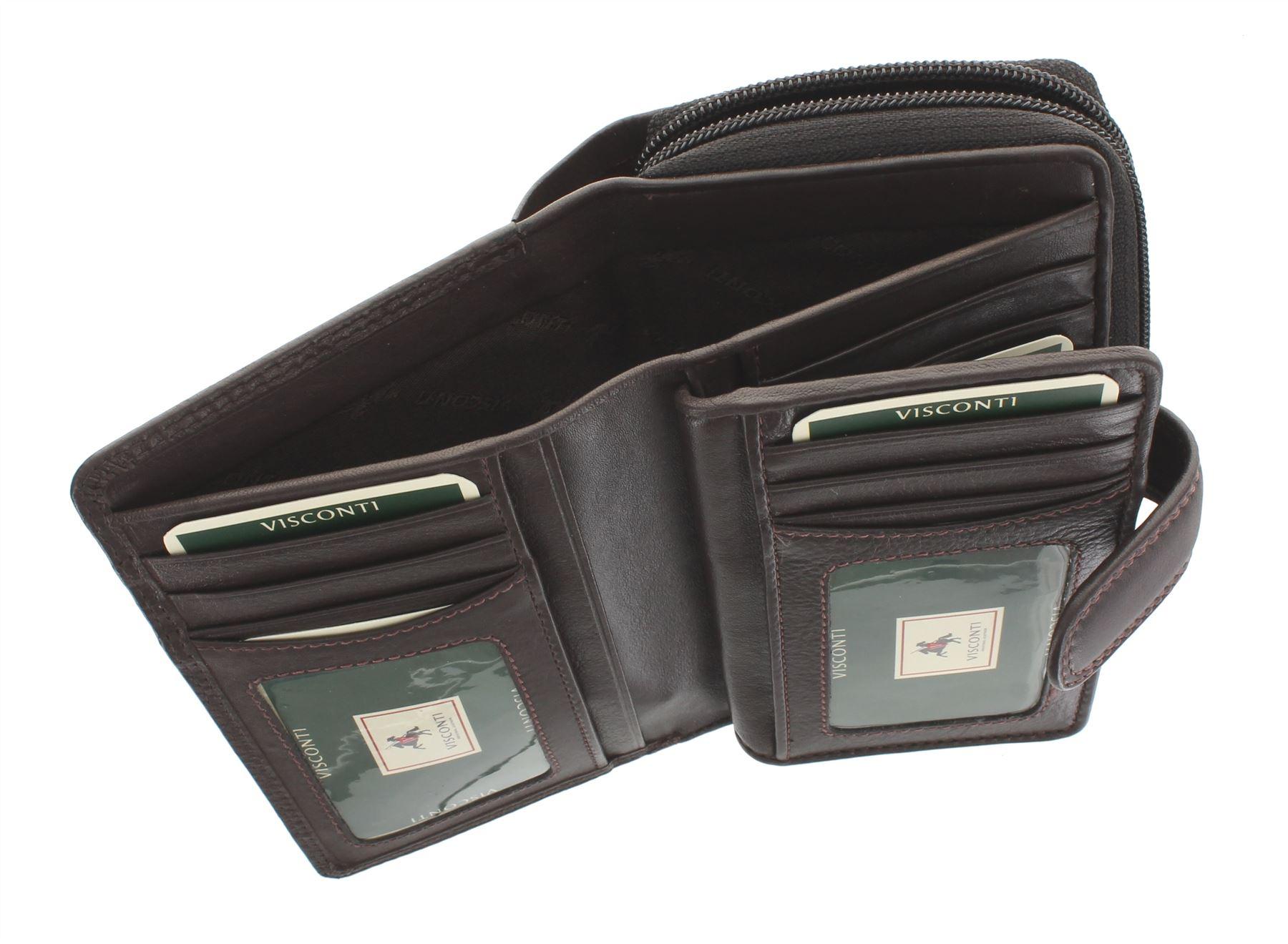 Visconti-Heritage-Collection-MADAME-Leather-Purse-Tab-Closure-RFID-blocking-HT33 miniatura 10