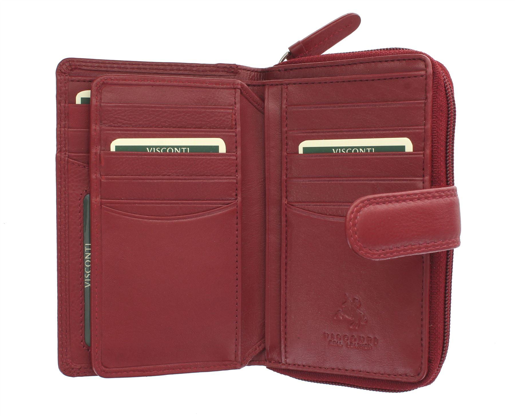 Visconti-Heritage-Collection-MADAME-Leather-Purse-Tab-Closure-RFID-blocking-HT33 miniatura 19