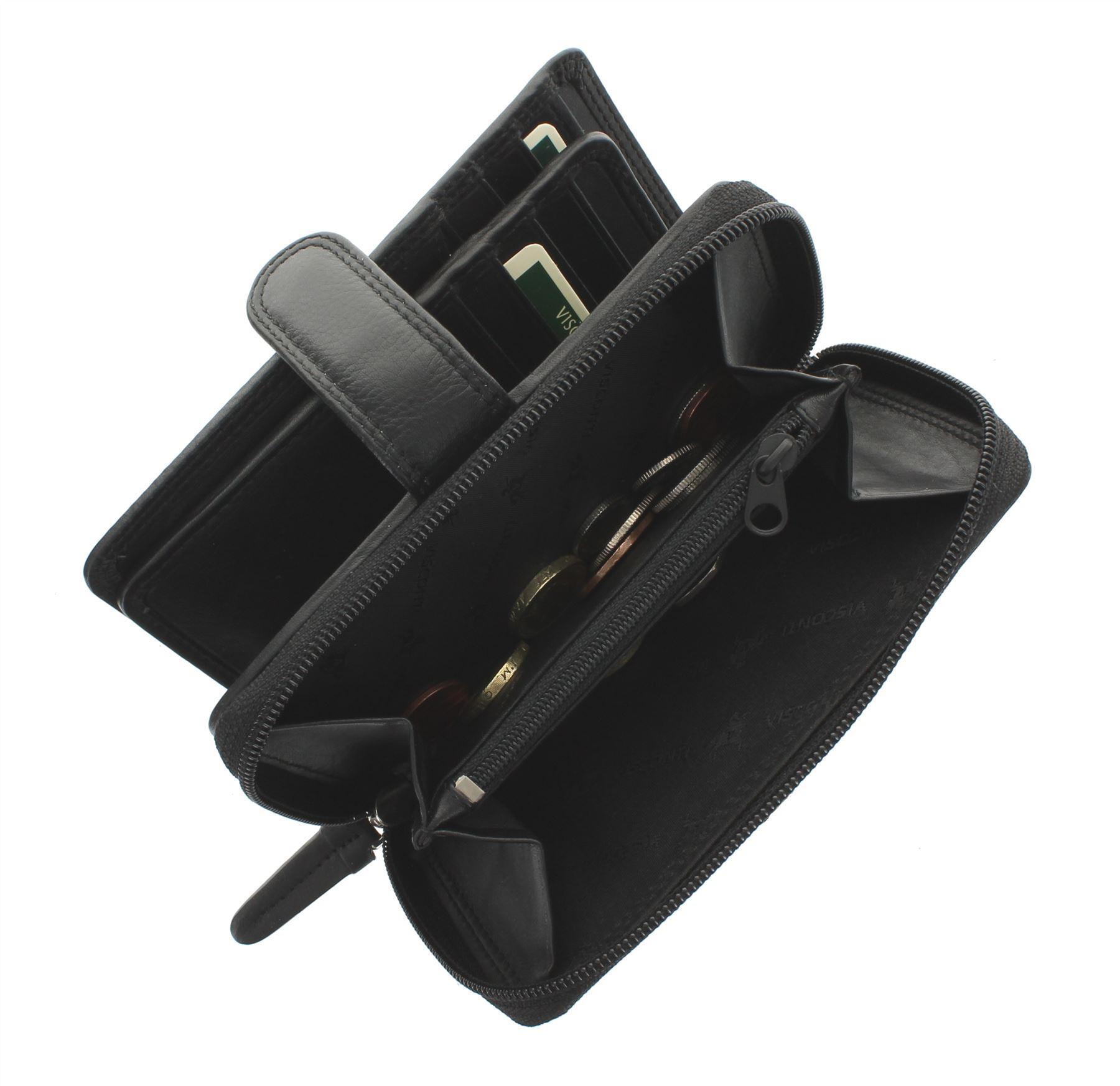 Visconti-Heritage-Collection-MADAME-Leather-Purse-Tab-Closure-RFID-blocking-HT33 miniatura 6