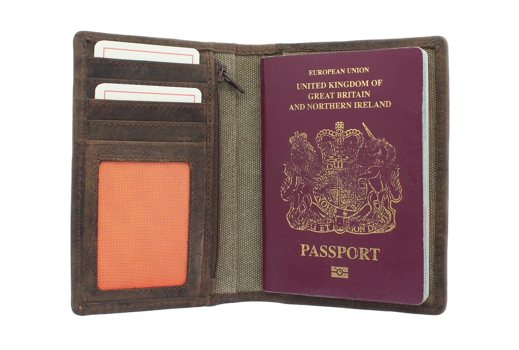RFID Blocking Travel Wallet Protector Biometric Passport Card Document Holder