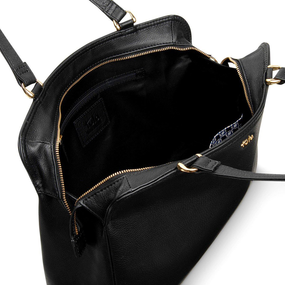 navy Soft Tula Originals Collection Voorraad Shoulder Blackniet Op Bag 8488 Leather BsthQrCdox