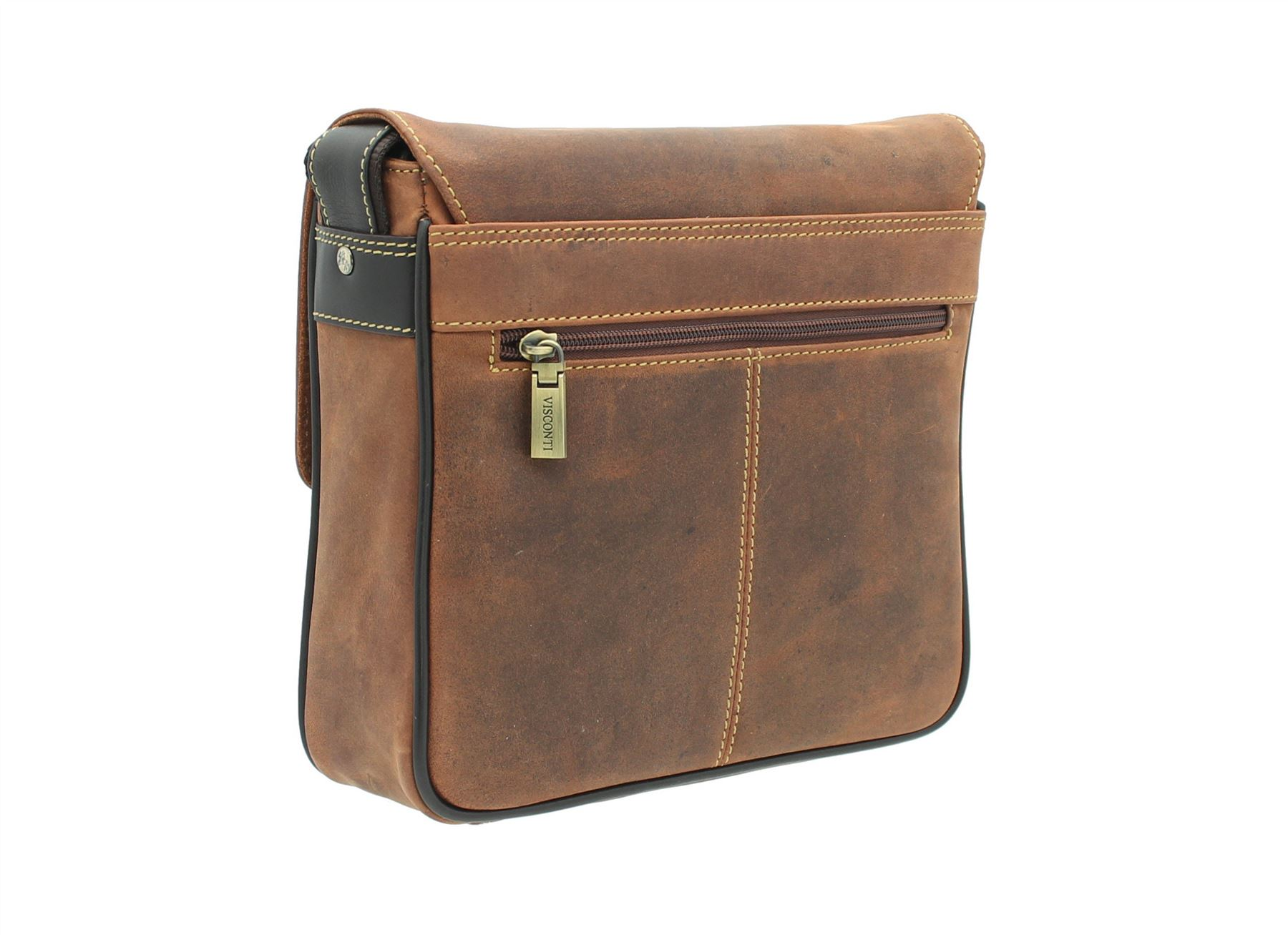 Visconti Leather Messenger Bag Style 16012