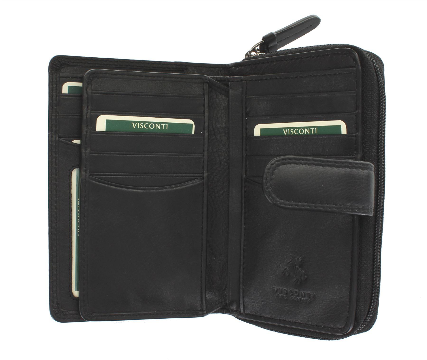 Visconti-Heritage-Collection-MADAME-Leather-Purse-Tab-Closure-RFID-blocking-HT33 miniatura 4