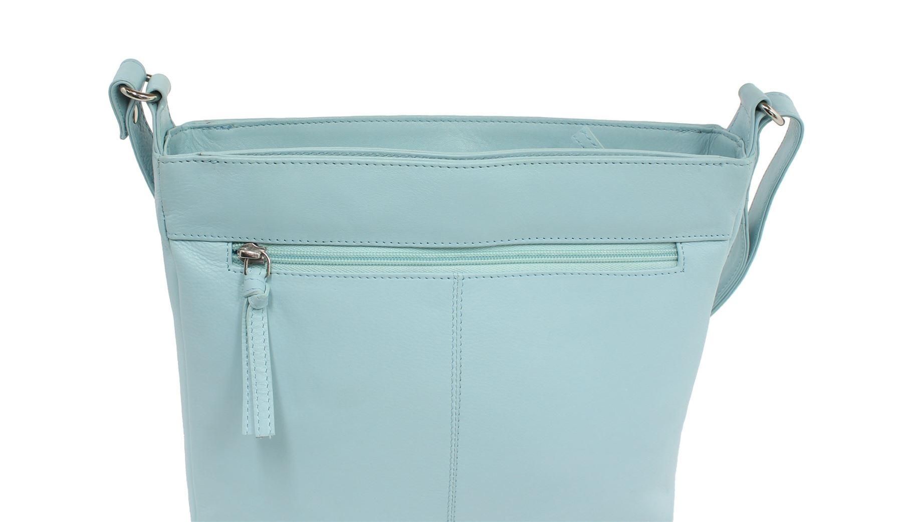 Blu tracolla Collection 12 spalla Time 7130 For Borsa Leather Tea Mala a A86nPqw