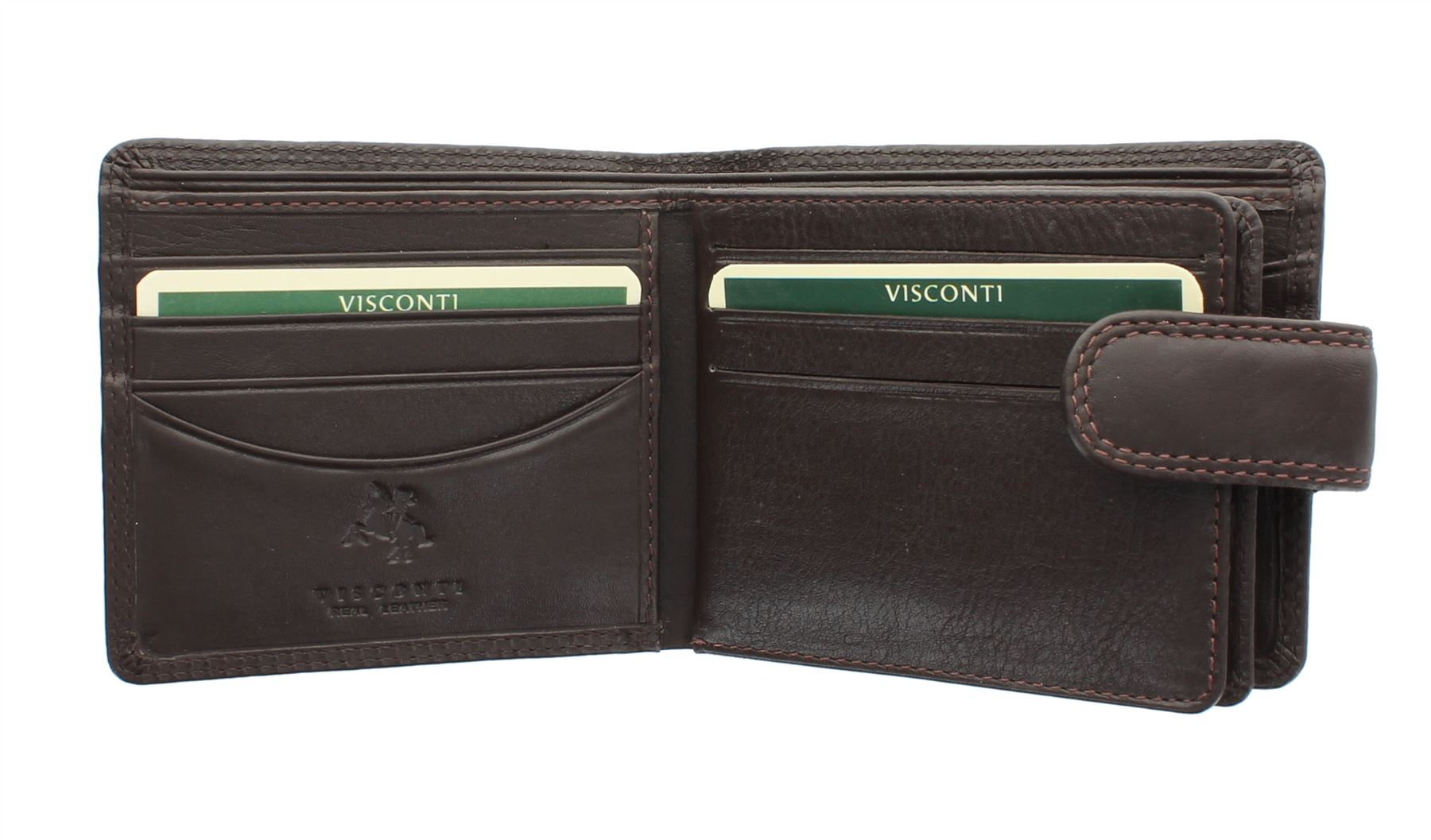 Visconti heritage collection Strand portefeuille cuir avec fermeture onglet HT13