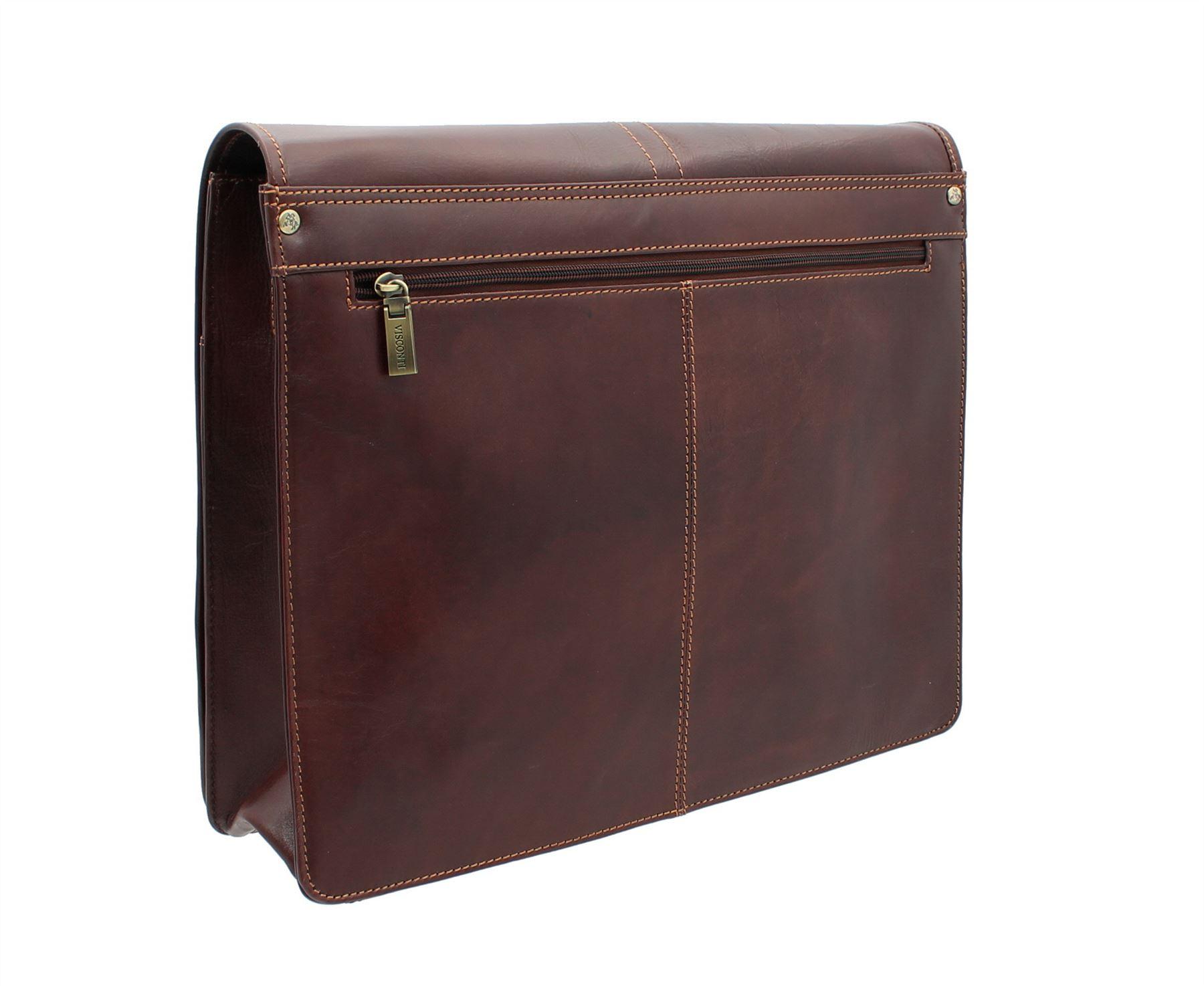 14dc93f569f Visconti-Aldo-Vintage-Tan-Leather-Briefcase-VT7 thumbnail 7