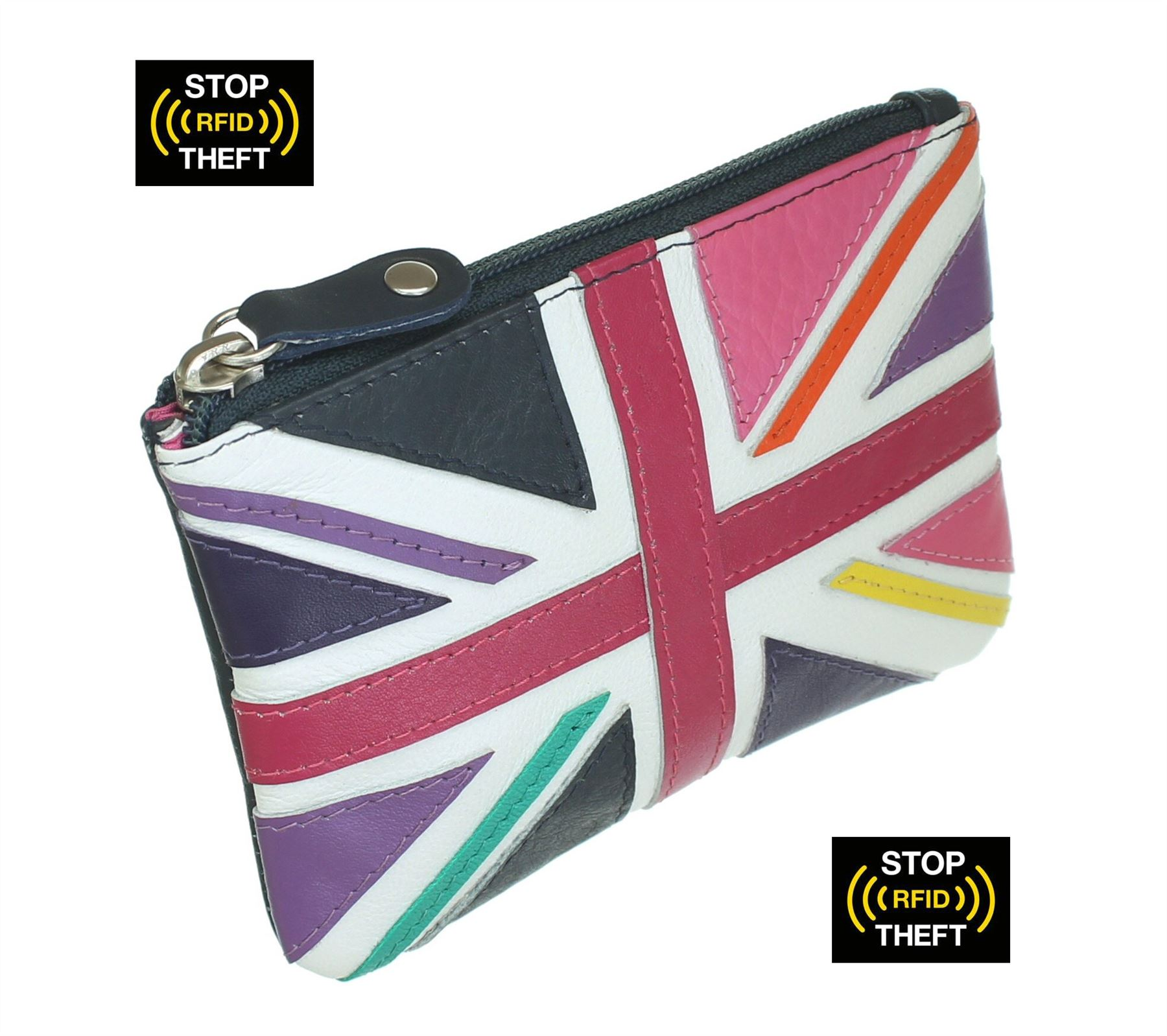 Mala Leather zip top lucy RFID protect coin purse with zip top and pocket 468 30