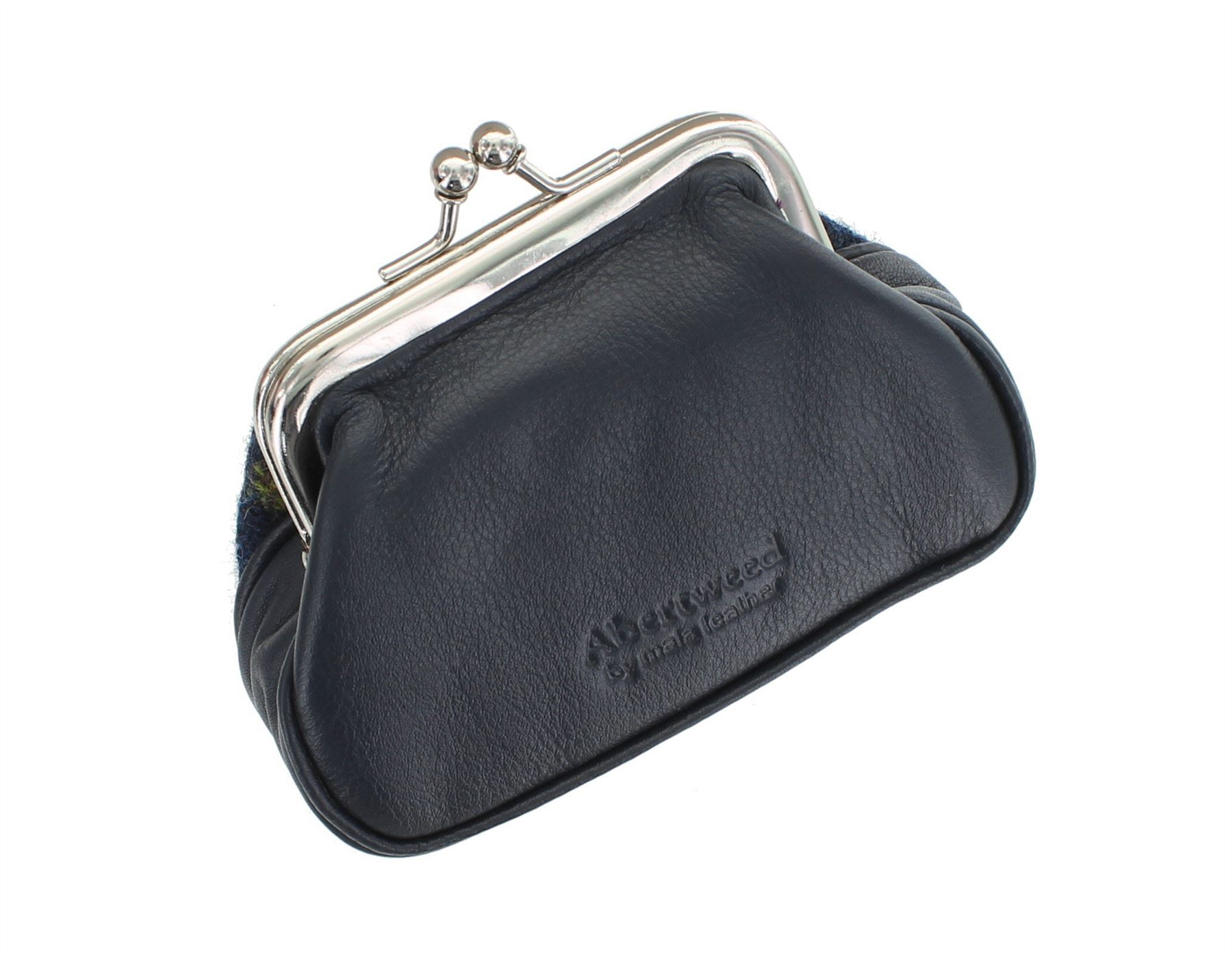 Mala Leather ABERTWEED Collection Leather /& Tweed Clip Top Coin Purse 546/_40