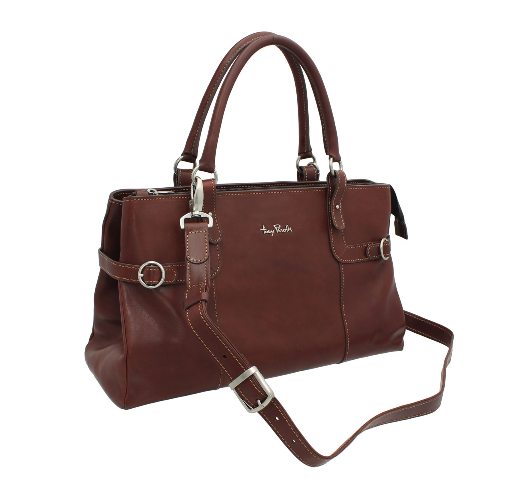 Grain Brown Grab Tony 1 Bag Perotti Full Leather 1821 p88wEaZ