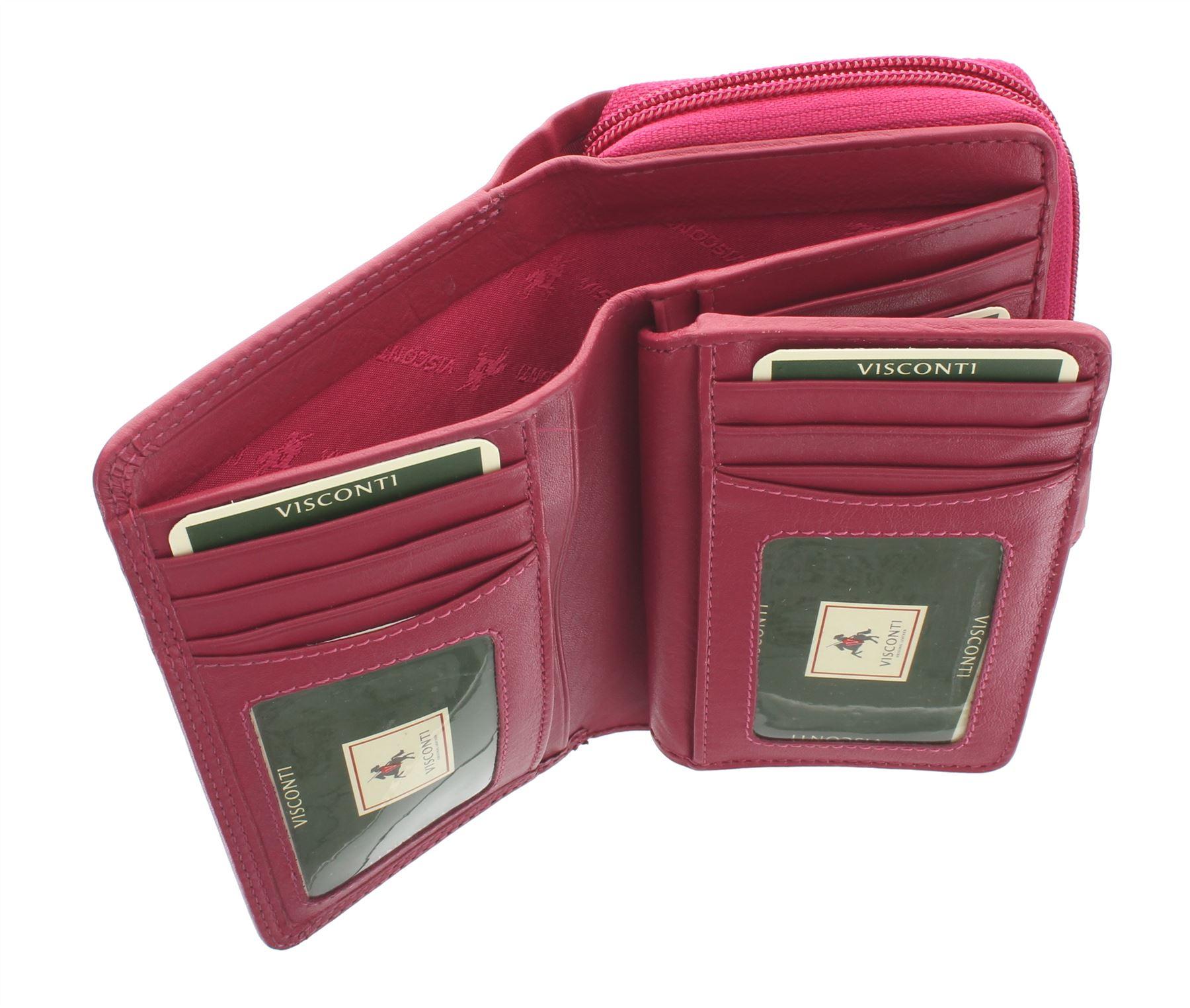 Visconti-Heritage-Collection-MADAME-Leather-Purse-Tab-Closure-RFID-blocking-HT33 miniatura 15