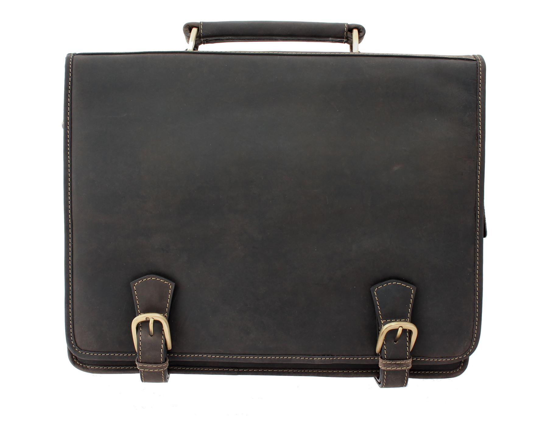 Visconti Hulk Oiled Leather Briefcase With Carry Handle and ... 070f020b8f4fa