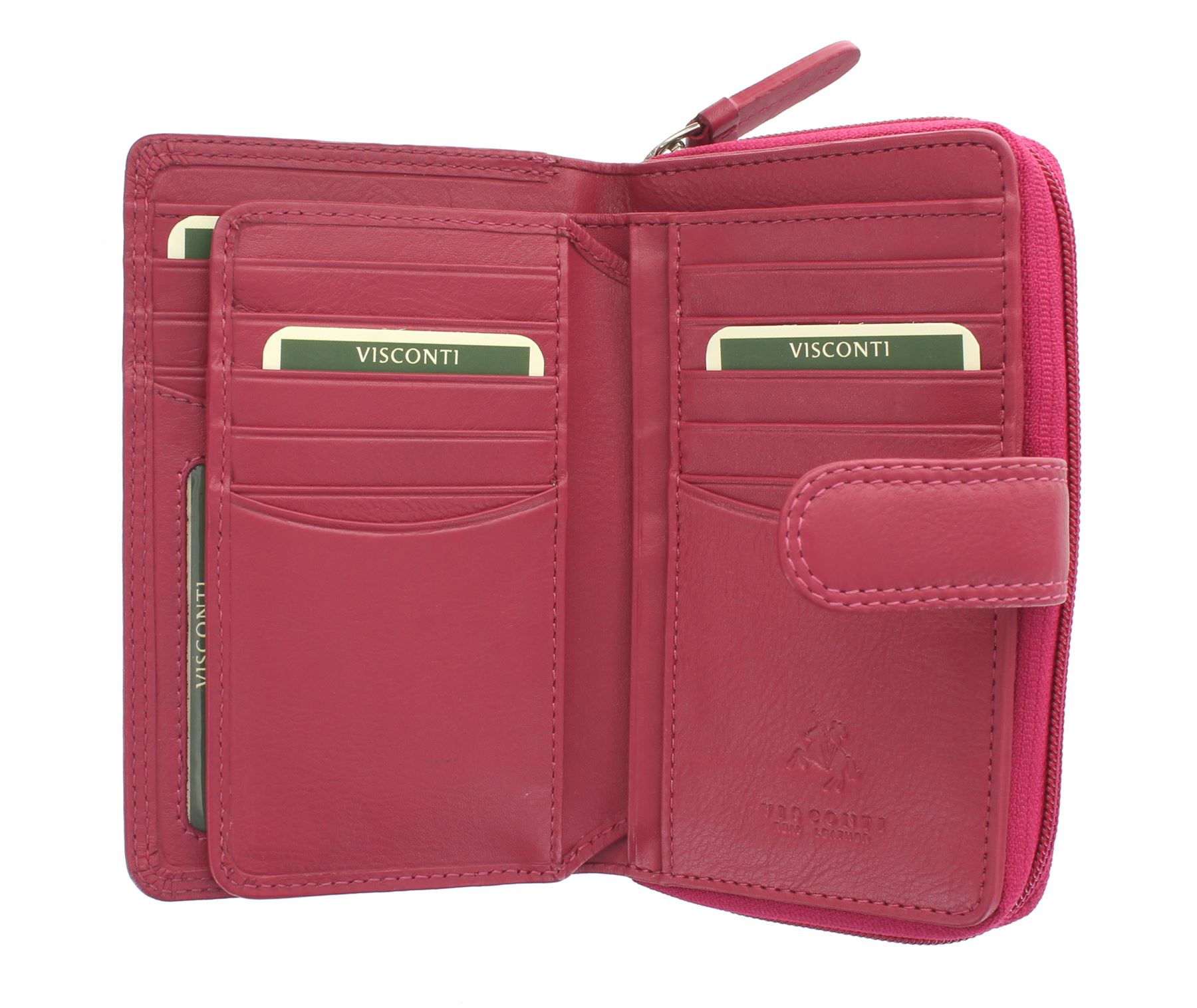 Visconti-Heritage-Collection-MADAME-Leather-Purse-Tab-Closure-RFID-blocking-HT33 miniatura 14
