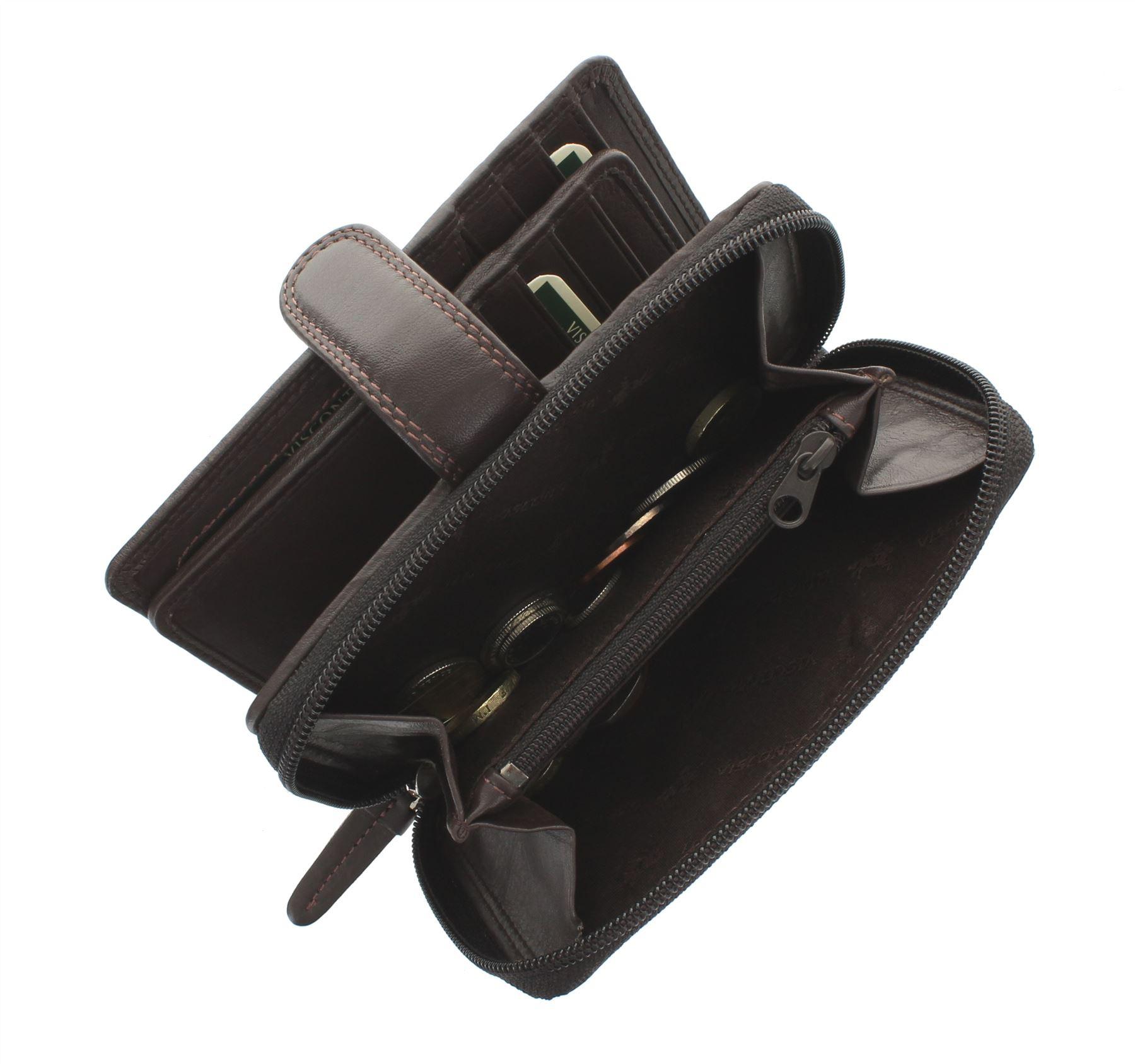 Visconti-Heritage-Collection-MADAME-Leather-Purse-Tab-Closure-RFID-blocking-HT33 miniatura 11