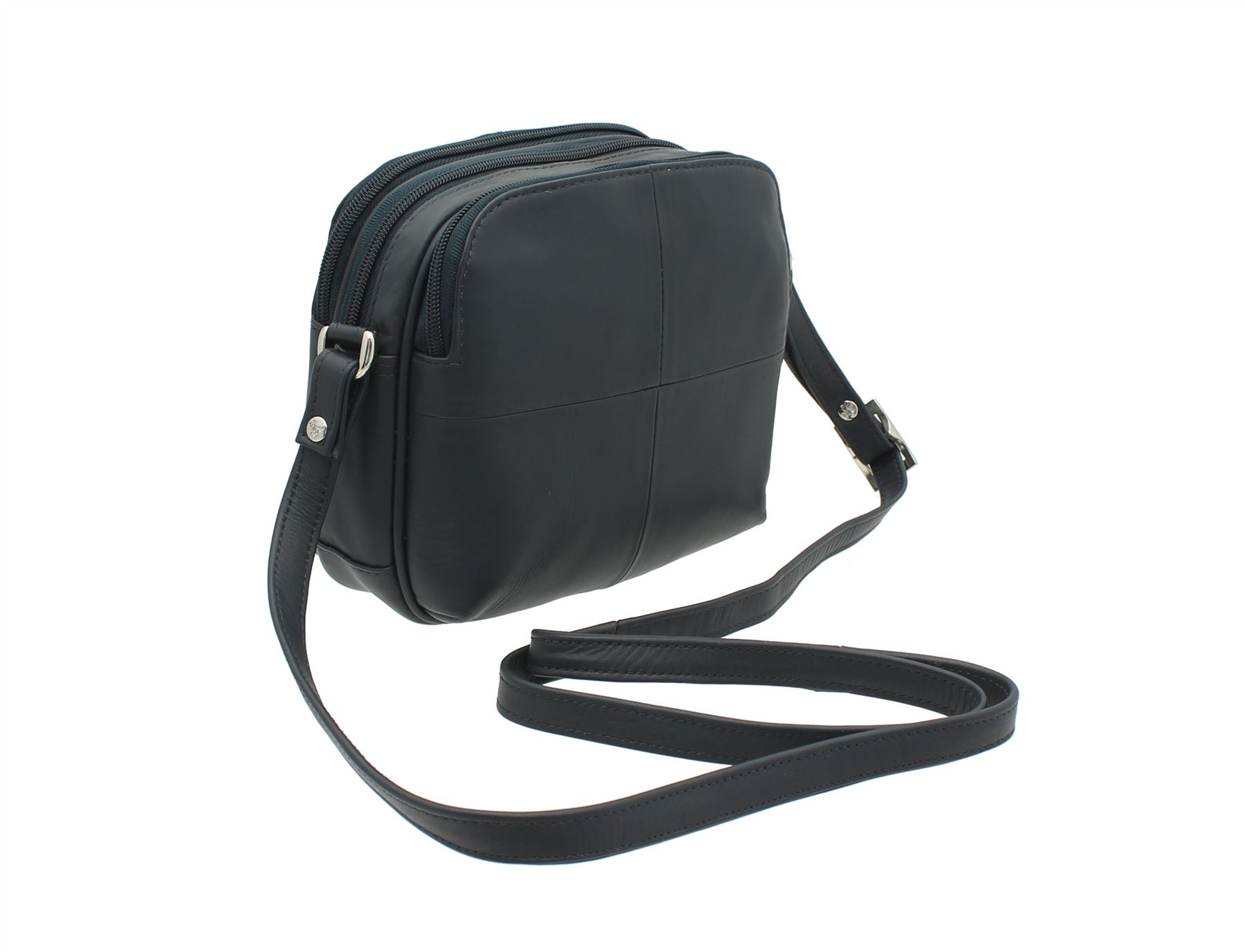 6a8a32c6dba6 Visconti Leather Small Shoulder Bag Style 18939 Navy. About this product.  Picture 1 of 6  Picture 2 of 6 ...