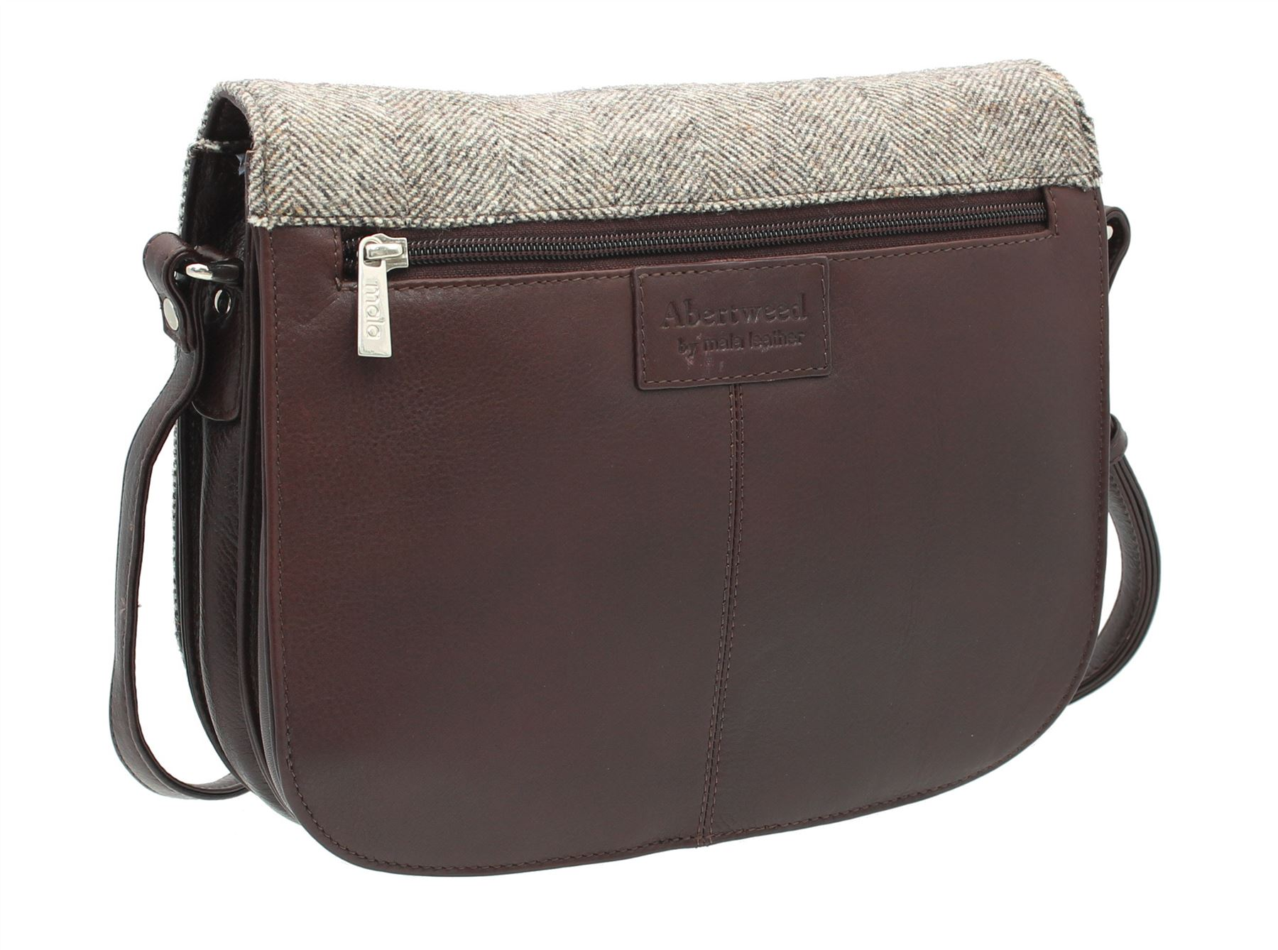 Abertweed 40 Leather 748 amp; Mala Bag Herringbone Tweed Collection Shoulder vPxw5wUqZ