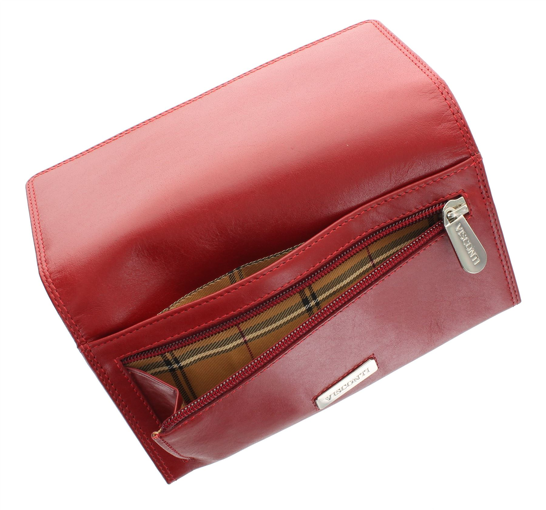 Visconti Monza Collection FLORENCE Vegetable Tanned Leather Ladies Purse MZ10
