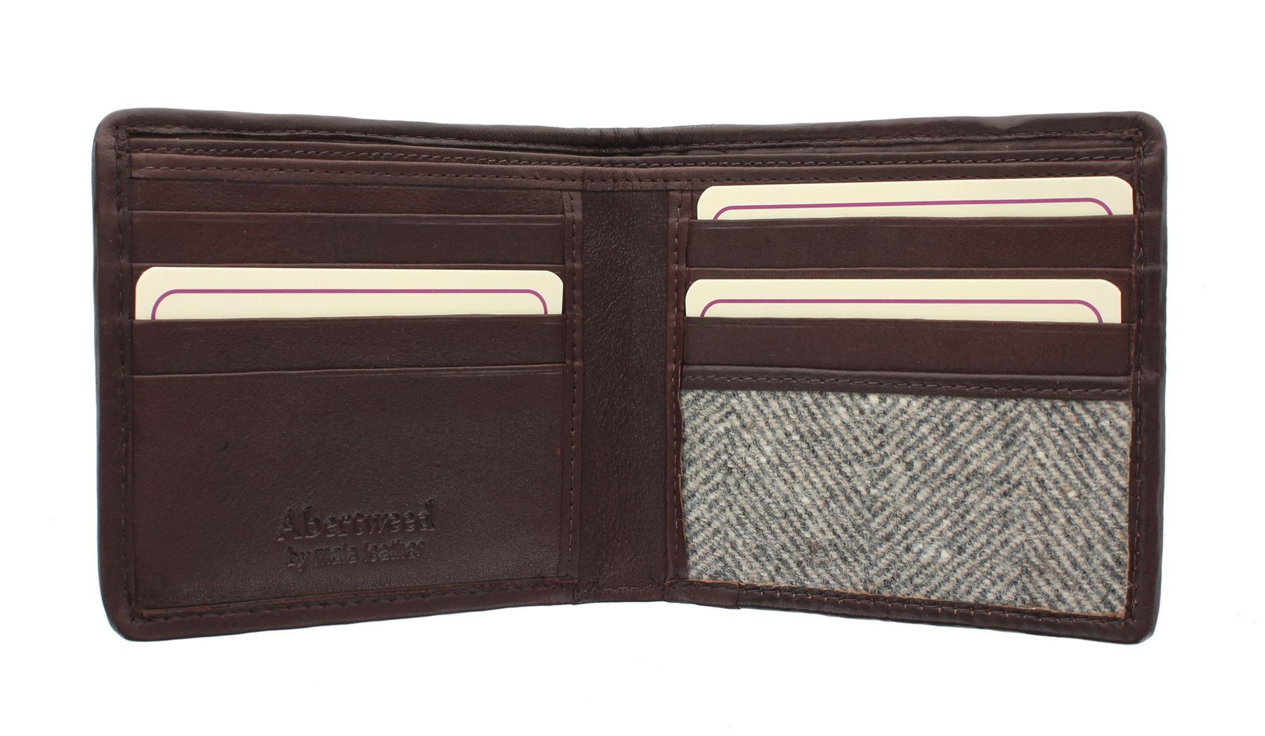 Mala Leather ABERTWEED Collection Leather & & & Tweed Bi-Fold Wallet 176_40  | Adoptieren