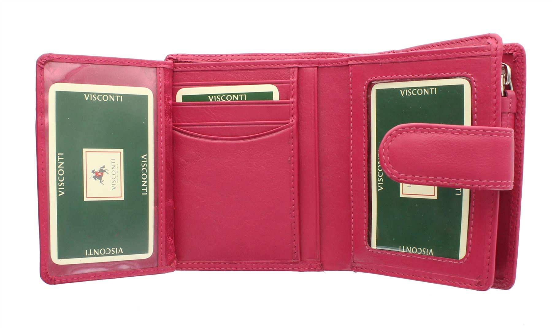 Visconti Heritage Collection SOHO Compact Leather Purse With Tab Closure HT31