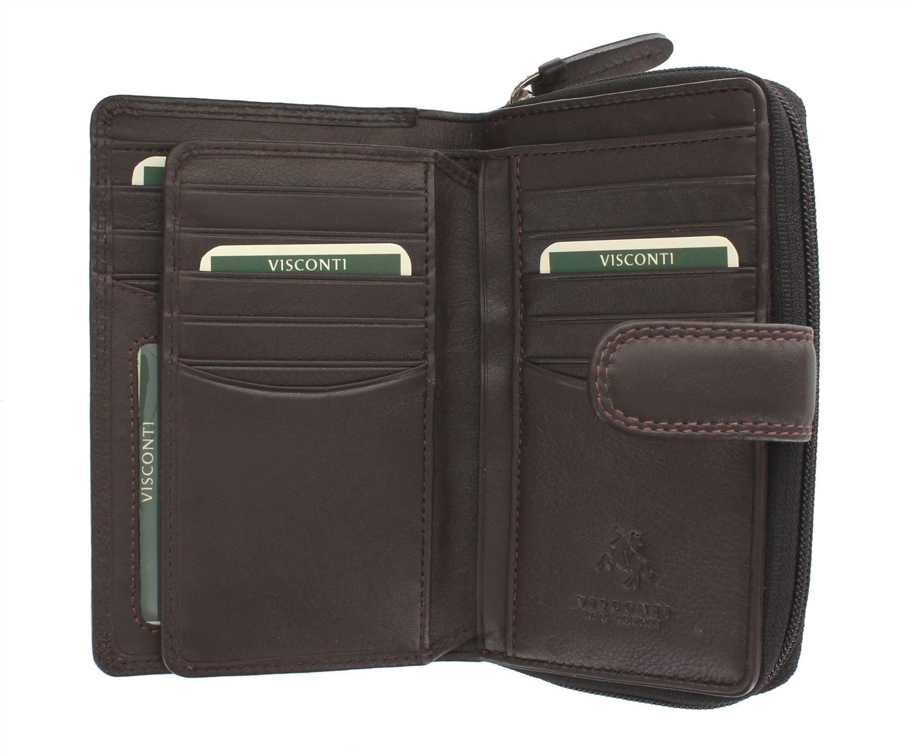 Visconti-Heritage-Collection-MADAME-Leather-Purse-Tab-Closure-RFID-blocking-HT33 miniatura 9