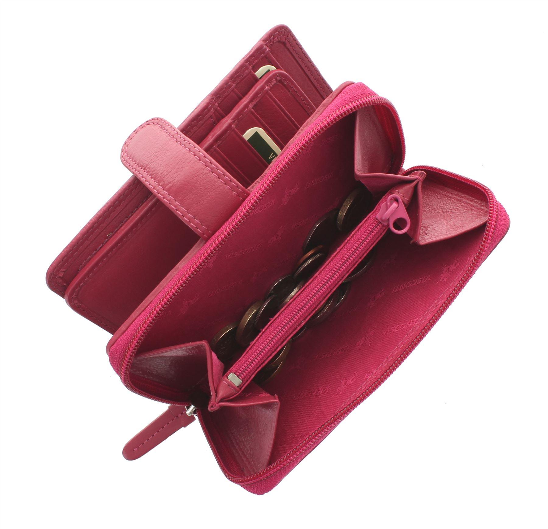 Visconti-Heritage-Collection-MADAME-Leather-Purse-Tab-Closure-RFID-blocking-HT33 miniatura 16