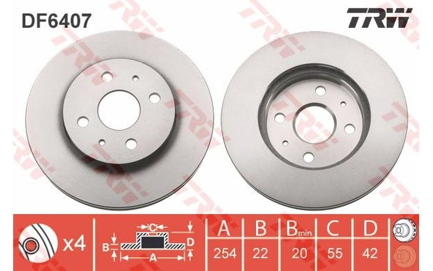 DAIHATSU SIRION 254mm DISC BCF1426G FRONT CALIPER SLIDER PINS GUIDE KIT FITS