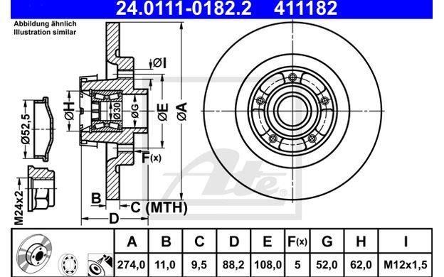 1285425 2x Gasfeder Gas Dämpfer Kofferraum Heckklappe Febi FORD beidseitig