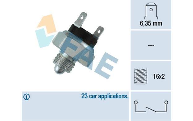 Fuel Parts Reverse Light Switch RLS5076 Replaces PRC1039,PRC1039,RTC4512