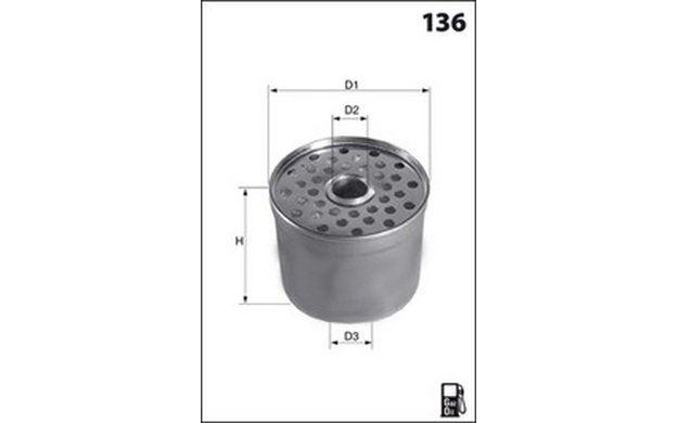 MECAFILTER Filtre à carburant 88mm pour RENAULT TRAFIC ...