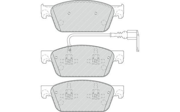 Delphi LP61 Car Brake Pads