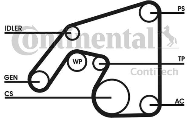 Original CONTITECH Courroies courroies trapézoïdales Mercedes