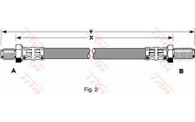 ORIGINAL TRW flexible conduite de l/'avant des deux côtés AUDI VW