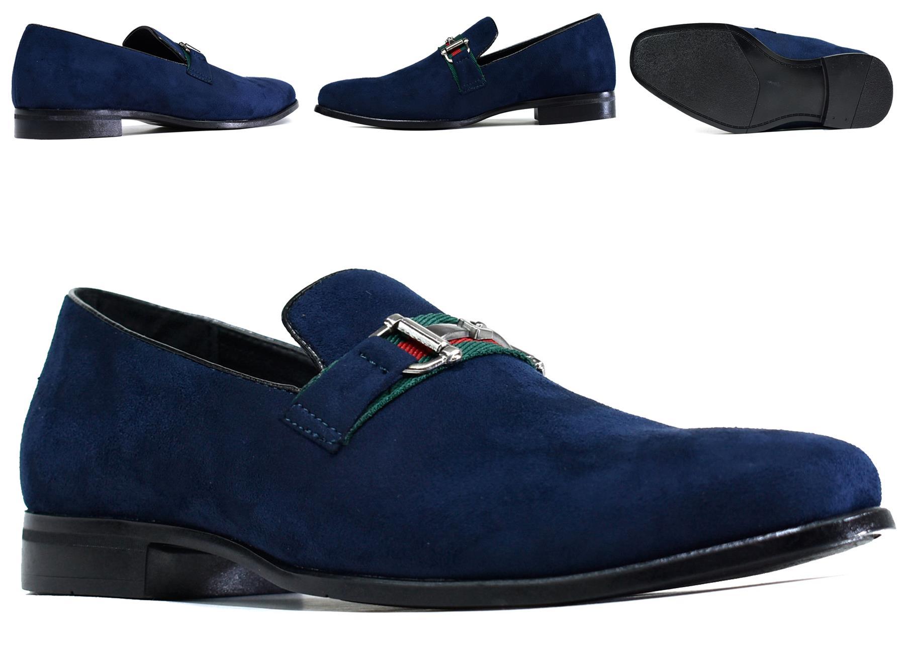 Classique Men Smart Front Stylish Buckle New Slip On Shoes UK Size 6-12