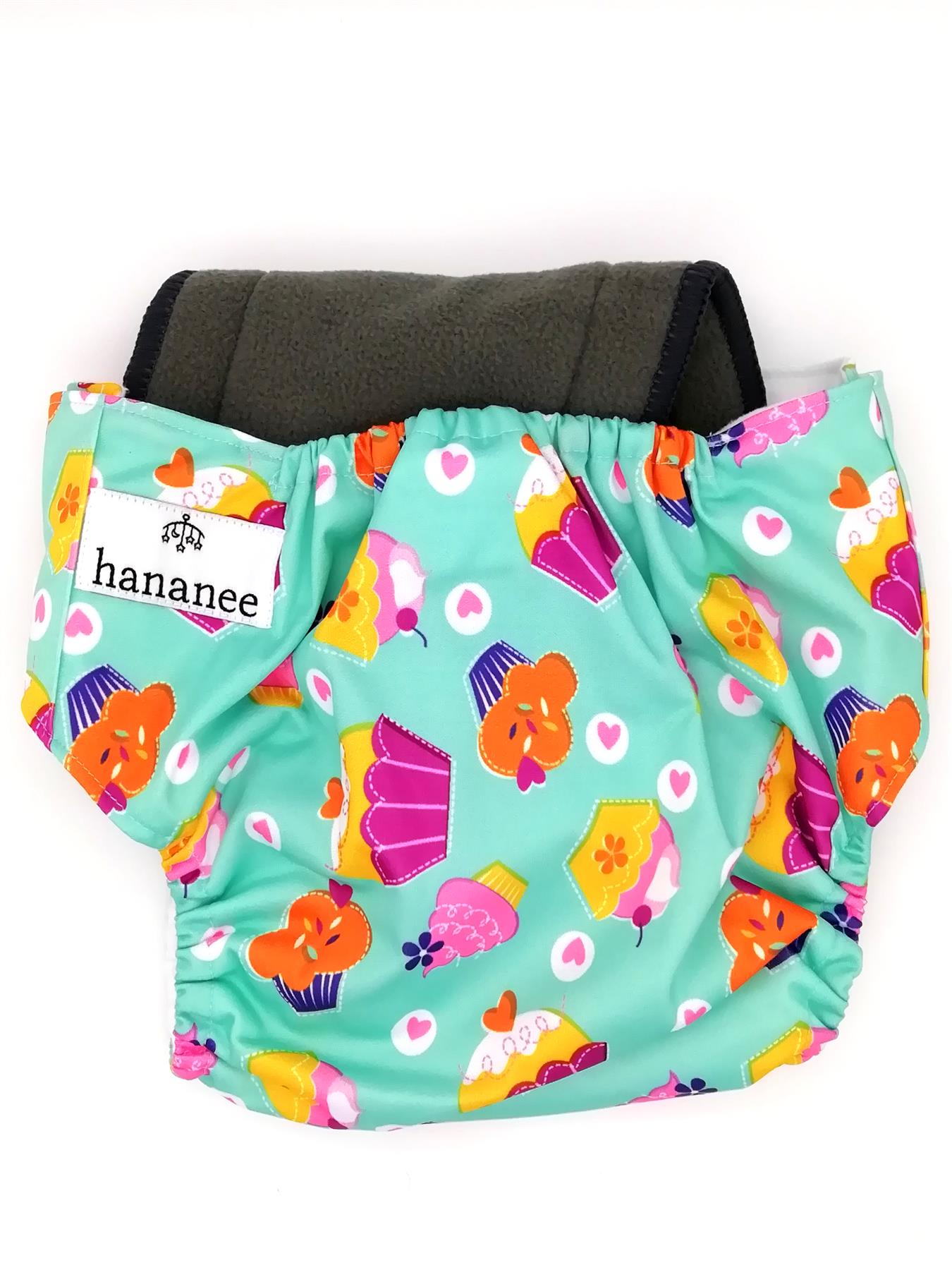 Hananee Baby Cloth Diapers with Bamboo Charcoal Insert All-In-One Nappy Zebra