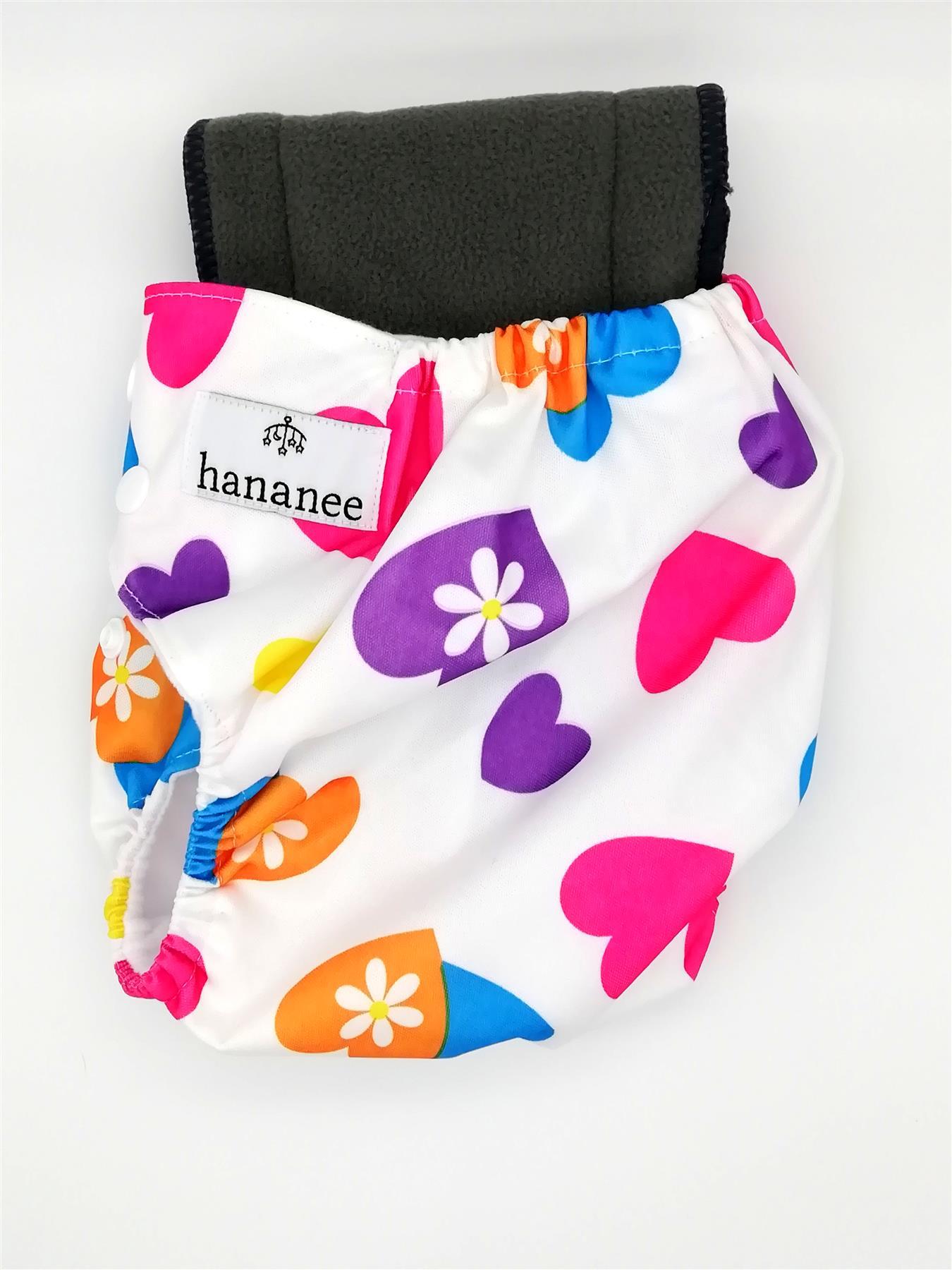 Hananee Baby Stoffwindeln mit Bambuskohle Einlage All-In-One Windel Anker