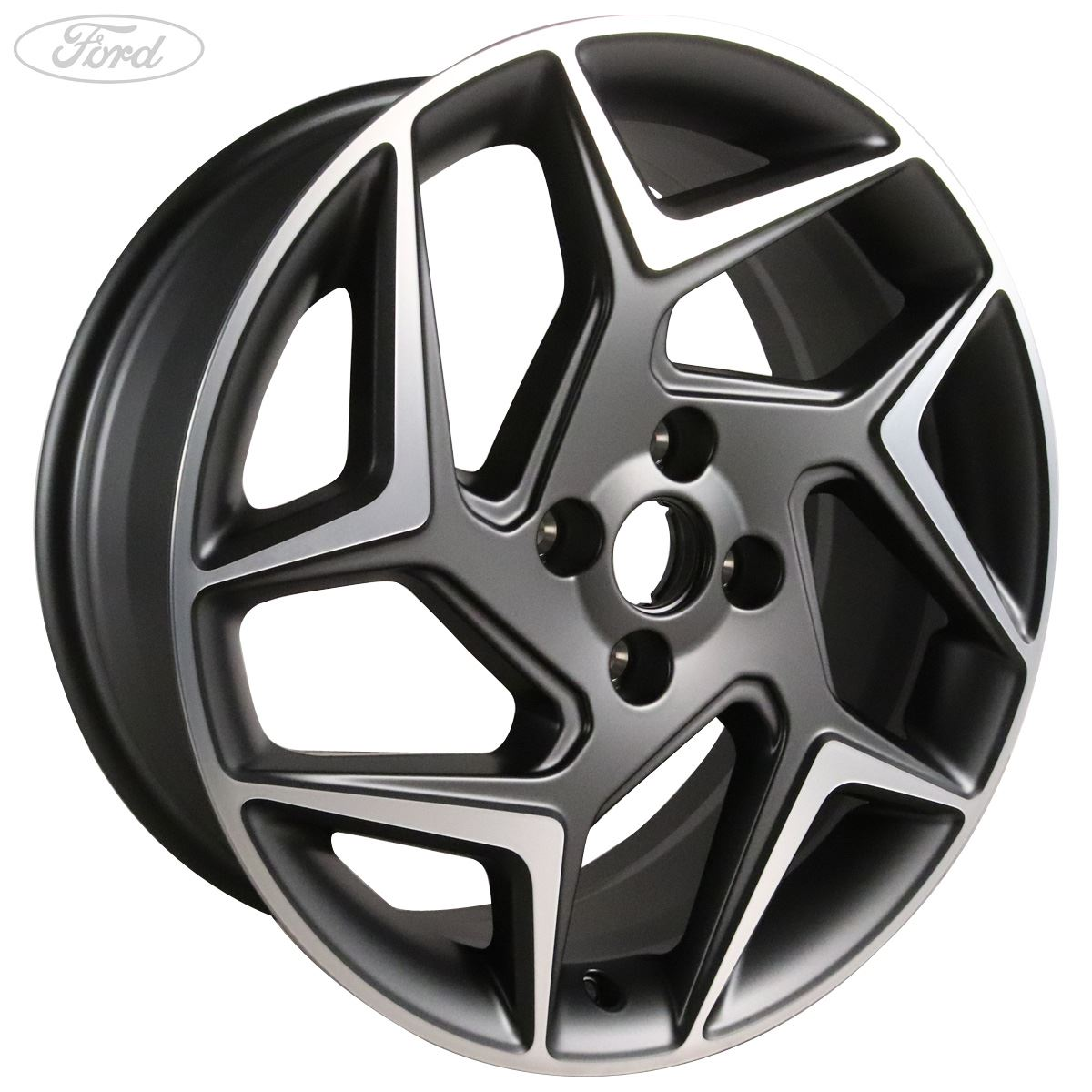 Genuine Ford Fiesta St Mk8 18 Alloy Wheel 5x2 Spoke Magnetite Machined 2169247 Ebay
