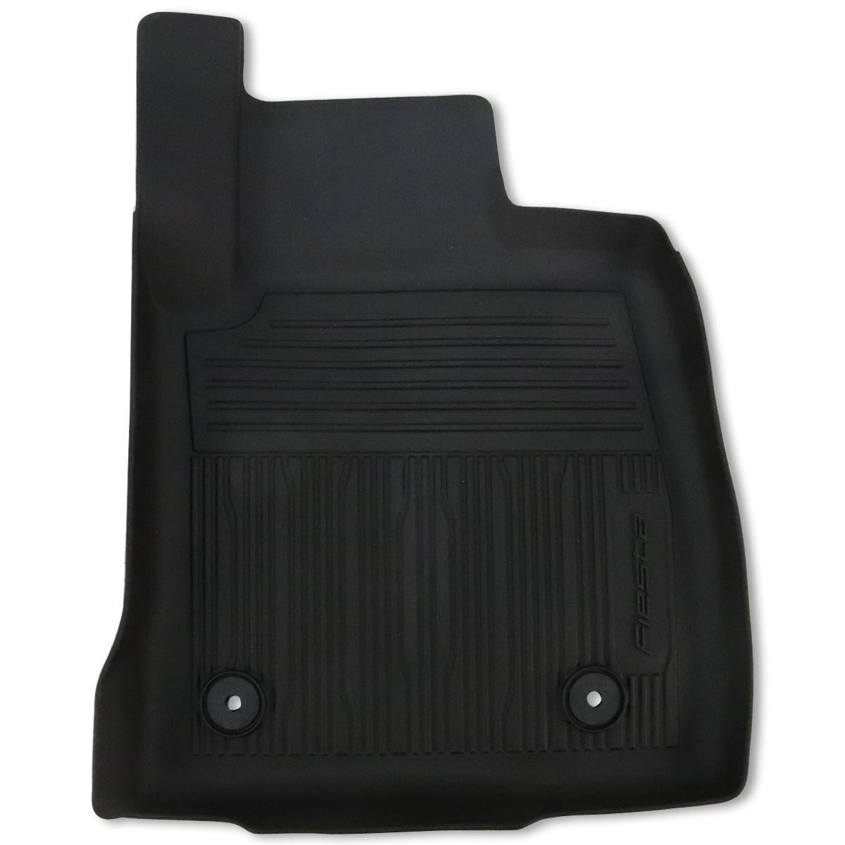 Genuine Ford Fiesta Mk8 Front Rubber Floor Mat With Logo