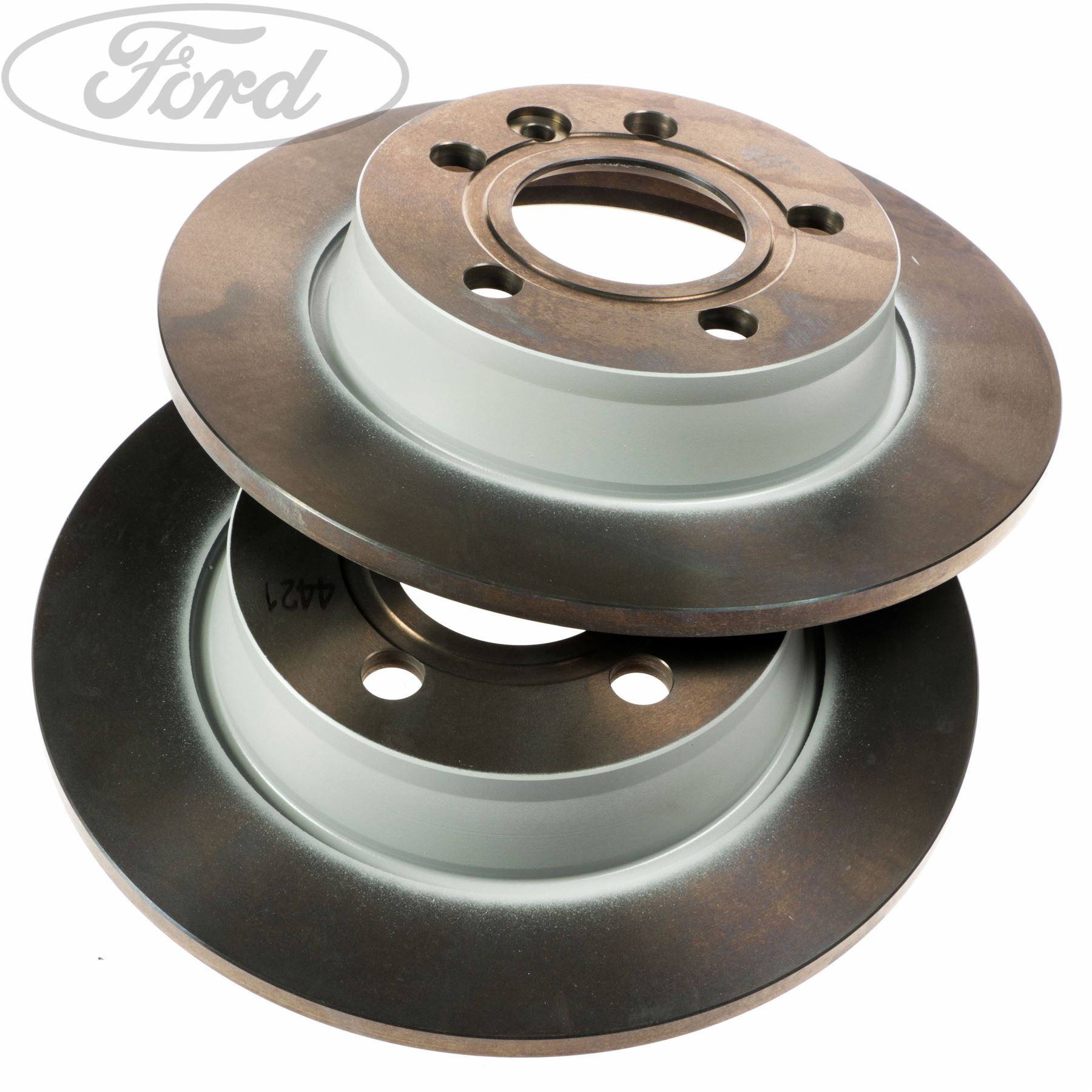 Brake Discs 268mm Solid Ford Galaxy 2.3 16V 2.8 V6 Rear Delphi Brake Pads