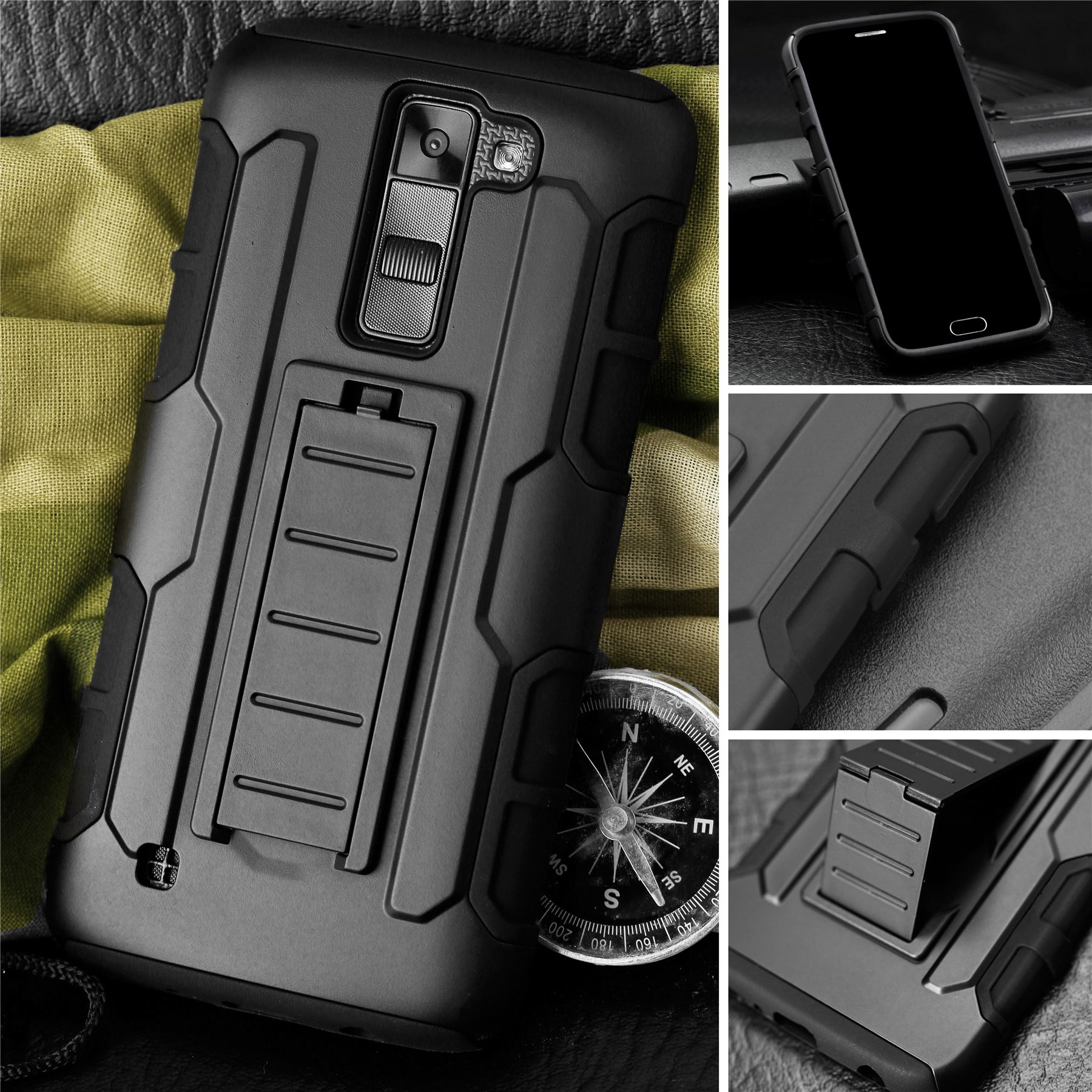 Resistente-Carcasa-Dura-Protectora-Para-Moviles-Funda-de-blindaje-futurista-LG
