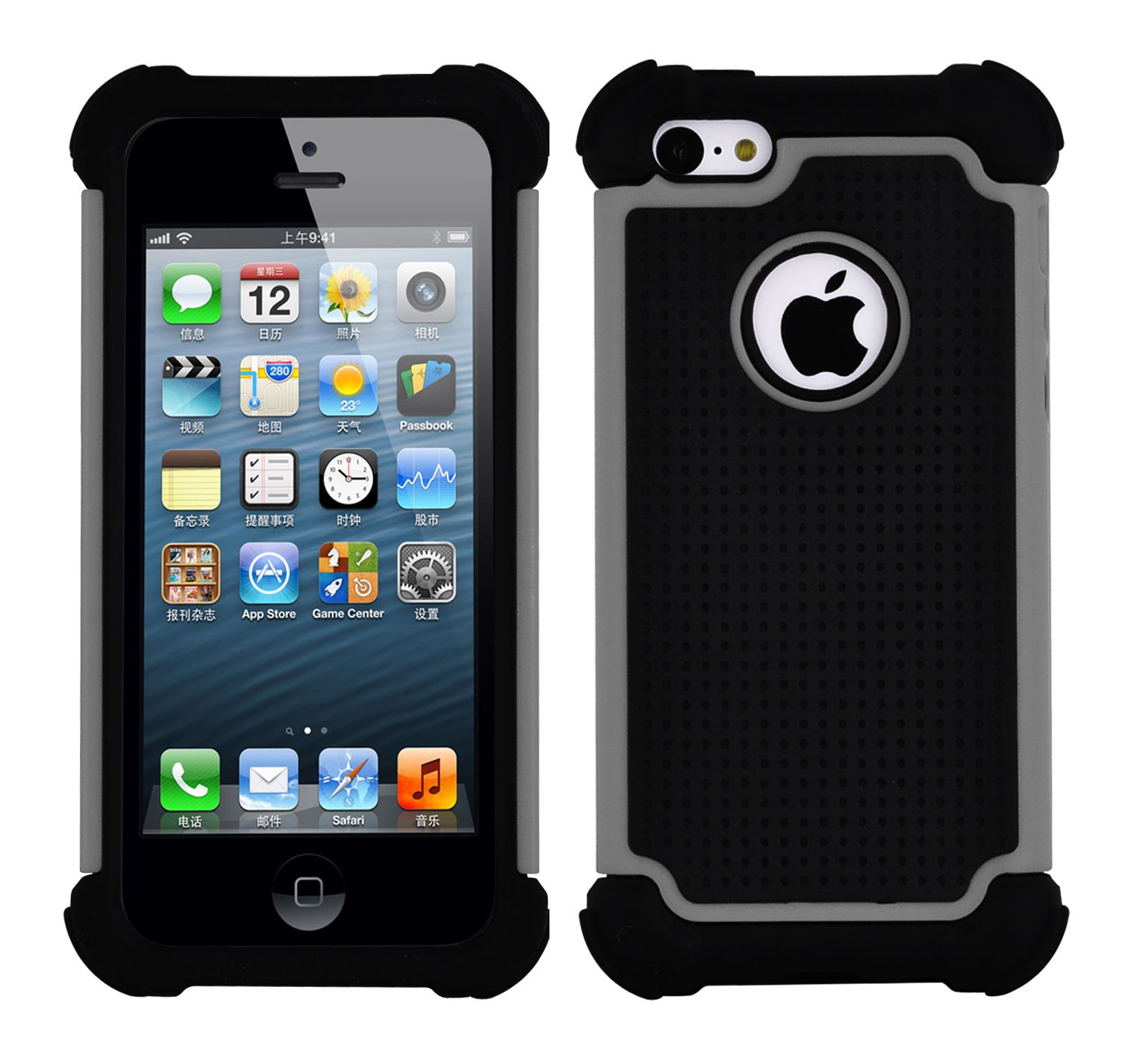 Protective Heavy Duty Case For Apple iPhone 5 5S Thick Silicone Hard Cover | eBay