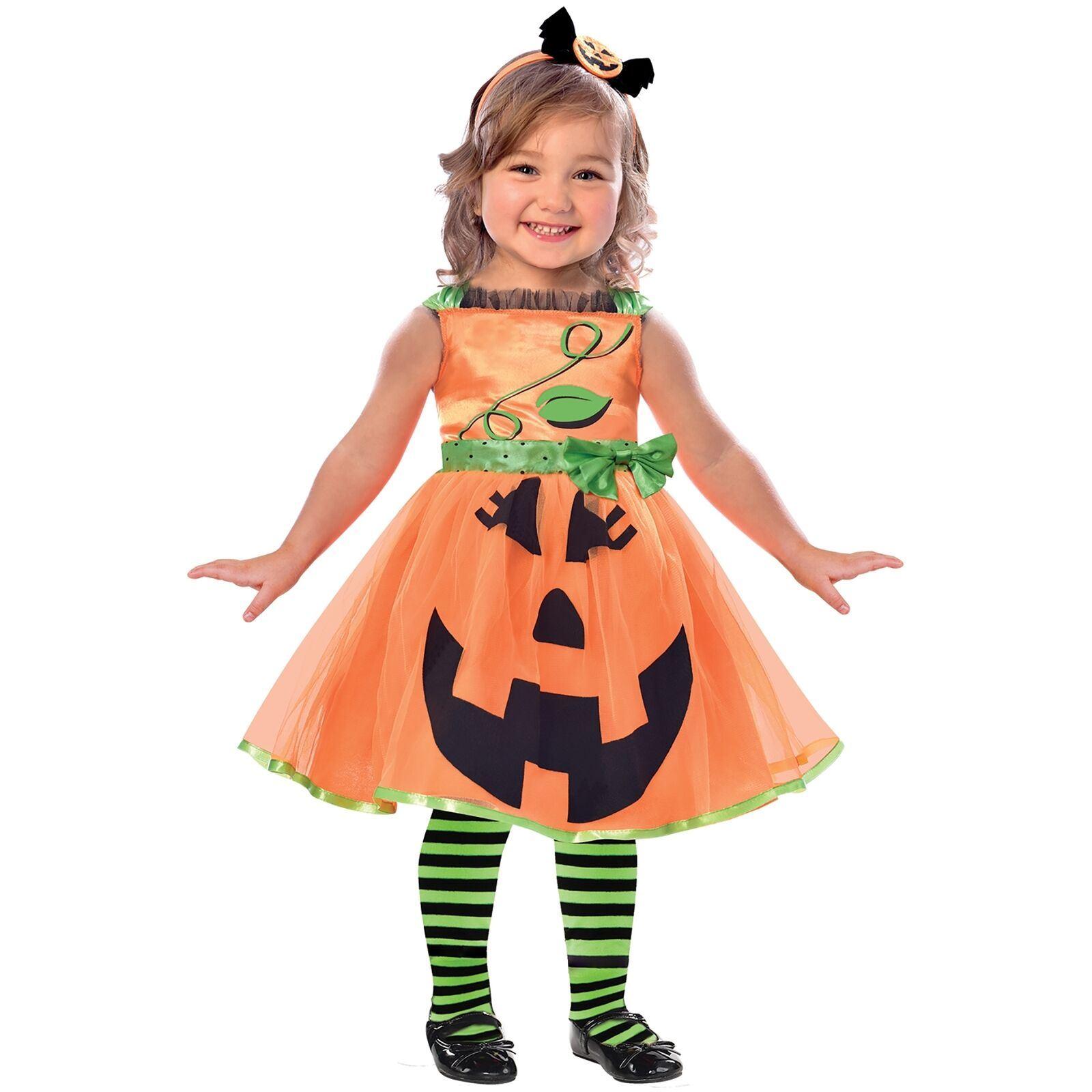 Vestiti Halloween Bambina 3 Anni.Dettagli Su Amscan Carino Zucca 2 3 Anni Bambino Del Bambino Costume Da Halloween Costume